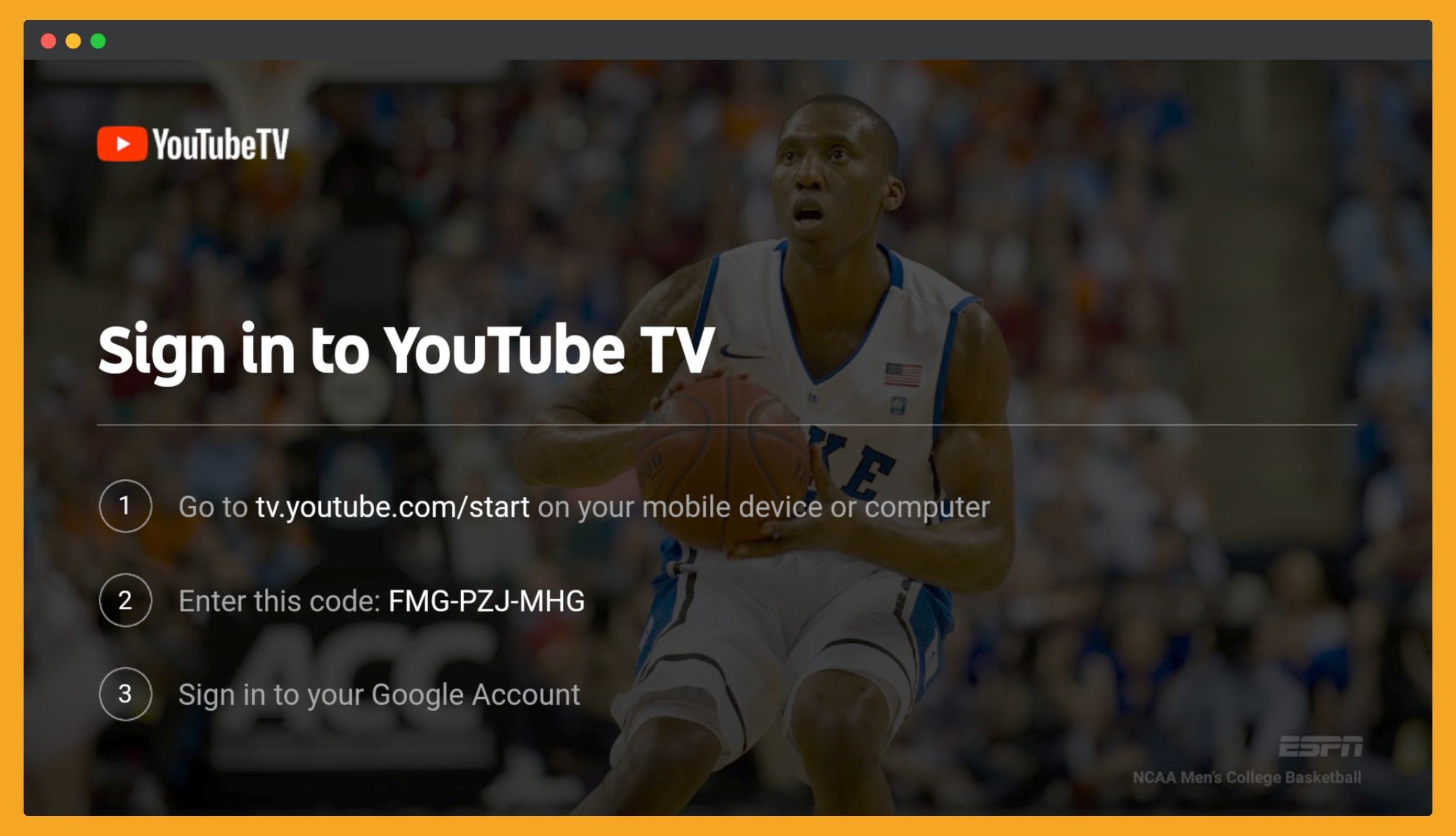 Enter-Code-to-YouTube-to-connect-Live-TV
