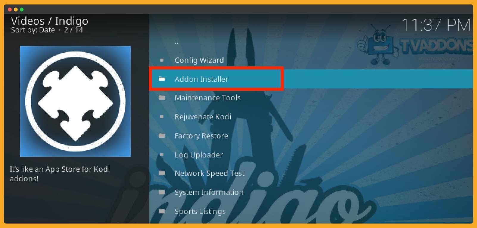 Select-Addon-Installer-Indigo
