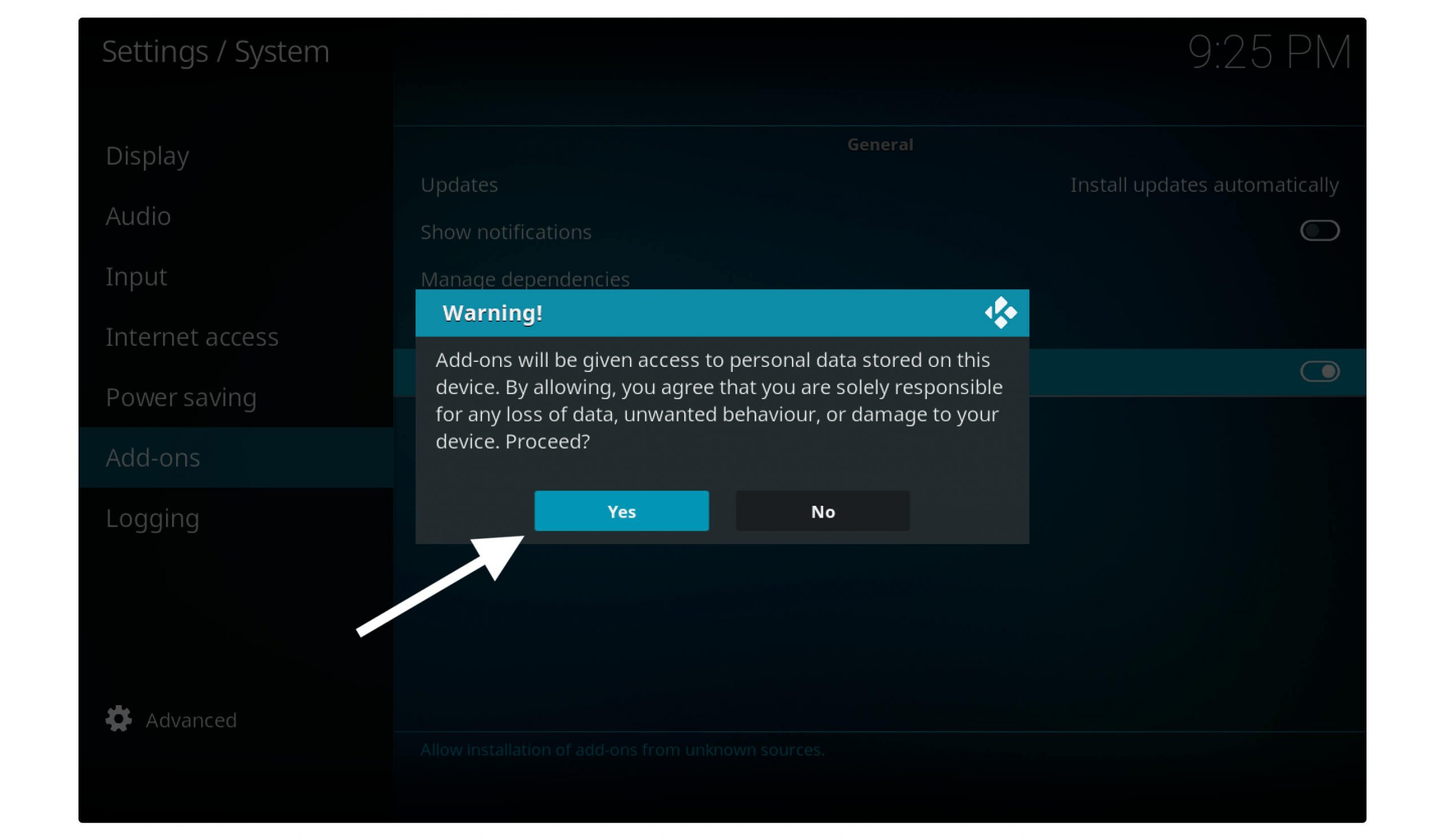 Allow-Unknown-Source-in Kodi-to-Install-Ares-Wizard