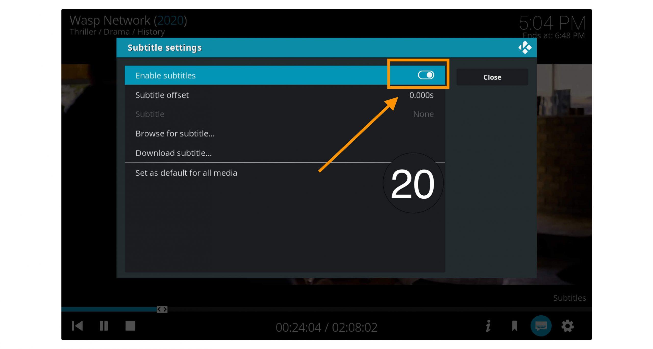 Subtitles-Working-Kodi