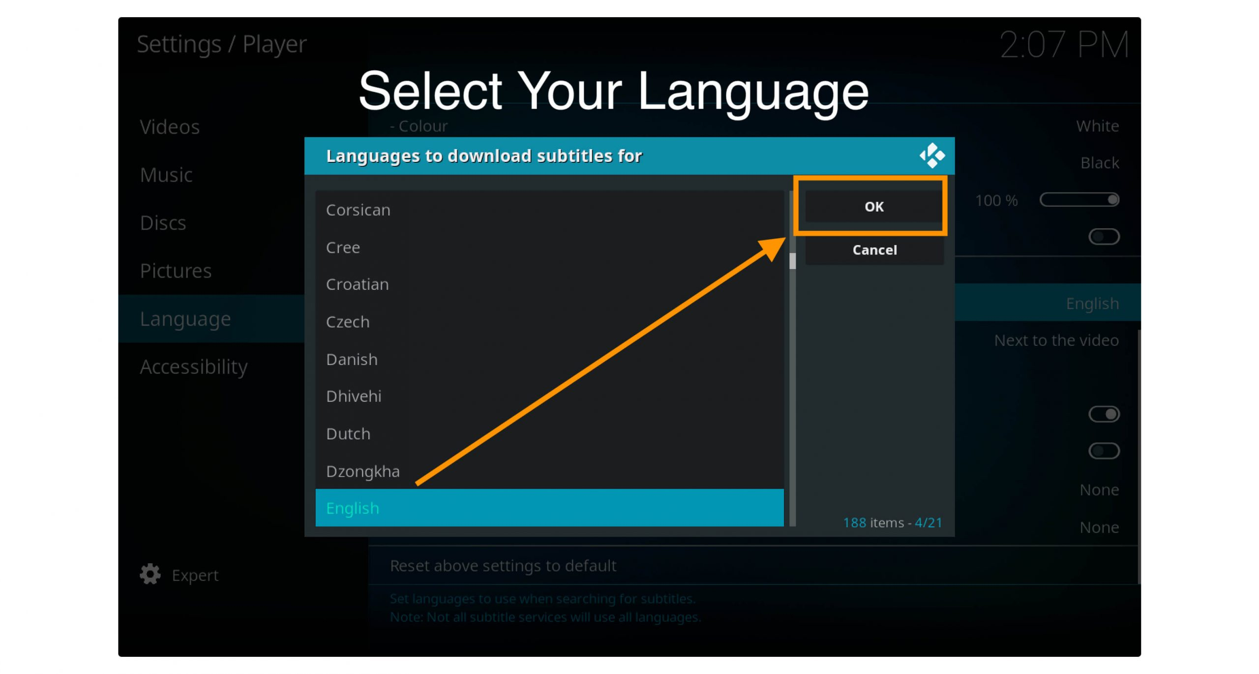 change-language-on-kodi