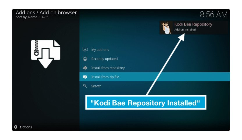 Kodi-Bae-Repository-in-TV