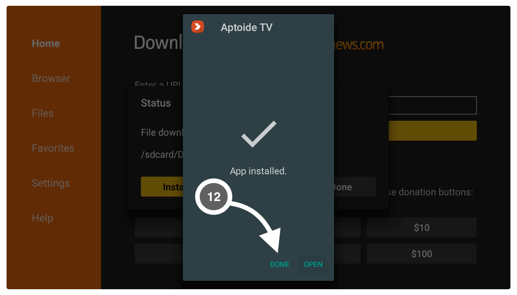 How-To-use-Aptoide-TV
